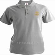 Рубашка поло Saab серая вышивка золото фото