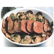 Доставка вторых блюд - Язык жареный с грибами (г) фото