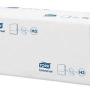 H3 - Tork листовые полотенца Singlefold сложения ZZ - 20 пач/уп, 250 л/пач, 1 слой фото