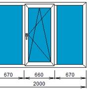 """Окна """"VEKA Euroline 58"""" (трёхстворчатое 2000""""1400) фото"""