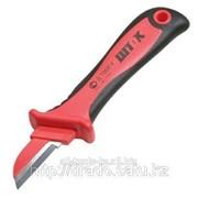 Нож для снятия изоляции с частично изолирован. лезвием 1000В Код: 14002 фото