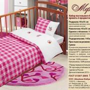 Набор постельного белья в детскую кровать шесть предметов фото