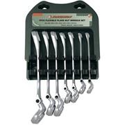 Набор комбинированных разрезных ключей с гибкой головкой 7 предметов., код товара: 49232, артикул: W24A107S