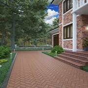 Брусчатка клинкерная тротуарная плитка 200х100х50  фото