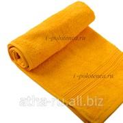 Простынь махровая, без бордюра (Желтый) фото