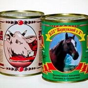 Тушенная говядина, конина фото
