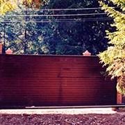 Сдвижные консольные ворота фото