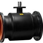 Кран стальной шаровой Бивал серии КШГ 11 со стандартным штоком, присоединение фланцевое, ф/ф фото