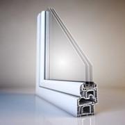 Однокамерный стеклопакет с белой пластиковой рамкой 24 мм 4-16ПВХ бел-4 фото
