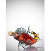 """Бутылка коньячная """"рыба 0,5"""" фото"""
