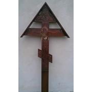 Крест дубовый распятие фото