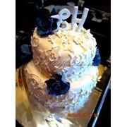 Торт свадебный №0023 код товара: 1-0023 фото