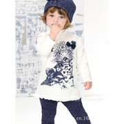 Одежда детская 2014 New Arrival Child Girl Suit Long Sleeve Cute Leopard T shirt White+Leopard Print Pants Children Girl Set Free Shipping, код 1719462351 фото