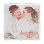 Фоторамка Сима 10,5*10,5 пластик Плакетка квадратная с блестками фото