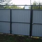 Ворота и калитка из профнастила комплект фото