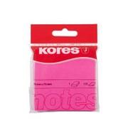Блок-кубик Kores бум.для зам. 75х75 неоновая розовая 100л. '47075 фото