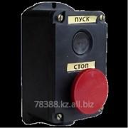 Кнопка ПКЕ 222-2 (кнопка черн. и крас.) фото
