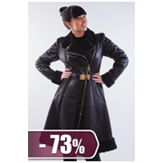 Дубленка женская CRNL 8740-lavato, черный фото