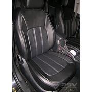 Чехлы Kia Sportage 10 подгол актив чер-бел,чер-сер, черный эко-кожа Оригинал фото