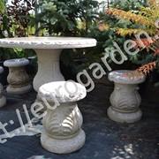 Садовая мебель из гранита фото