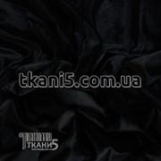 Ткань Стрейч бархат ( черный ) 2634 фото