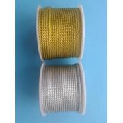 Шнур витой металлизированный 2 мм 1рул - 20м фото