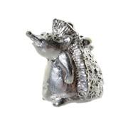 Сувенир наперсток Ежик серебрение фото