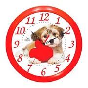 """Часы настенные """"Вега"""" П1-1/7-217 Собака фото"""