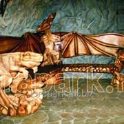 Скамейка Динозавры фото