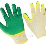 Перчатки с латексным покрытием х/б двойной облив, арт. 189 фото