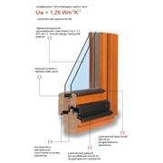 Деревянно-алюминиевое окно фото