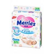 Подгузники MERRIES S 3 (4-8 кг), 82шт фото