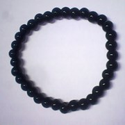 Браслет - Черный агат. фото