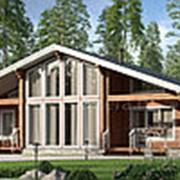 Дом из клееного бруса по проекту М331 фото