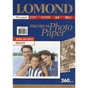 Бумага полуглянецевая Lomond Semi-Glossy A4 260 г/м 20л (1103301) фото