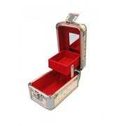 Сундучок-косметичка с отделениями, зеркалом и подкладкой/целлюлоза, алюмин. (13*8*Н8) 8616 48415 фото