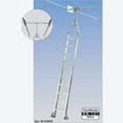Лестница поворотная 11 ступеней для двухрядных стеллажей, для круглой шины Stabilo KRAUSE 819468 фото