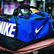 Спортивная дорожная сумка NIKE большая 50х25х27см голубая фото