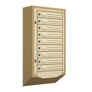 Антивандальный почтовый ящик Кварц-9, бежевый фотография