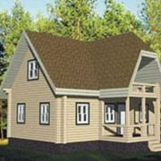 Проект дома из бруса фото