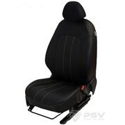 Чехлы Chevrolet Aveo 12 черный эко-кожа Оригинал фото
