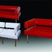 Легкий эргономичный диван Тетра для холлов и гостинных. диван модульный фото