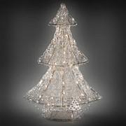 """Ель светящаяся """"Ажурная"""", 90 см, уличная, прозрачные акриловые нити, 120 теплых белых LED ламп (Kaemingk) фото"""