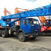 Автокран 25 тонн, стрела 28 метров  фото