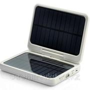Солнечная зарядка Power Bank + 7 светодиодов - Солнечные батареи 2x, 4x разъема фото
