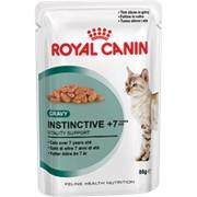 Instinctive +7 (в соусе) Royal Canin корм для взрослых кошек, от 7 лет и старше, Пакет, 12 x 0,085кг фото