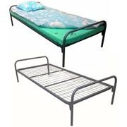 Кровать металлическая одноярусная + спальный комплект фото