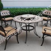 "Комплект Барбекю ""Лоренцо3"", стол +4 кресла фото"