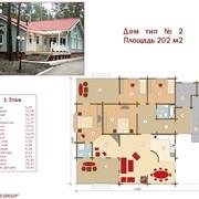 Проект дом тип №2 202 м² фото