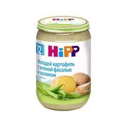 Хипп пюре молодой картофель с зеленой фасолью и кроликом с 12 мес 220г фото
